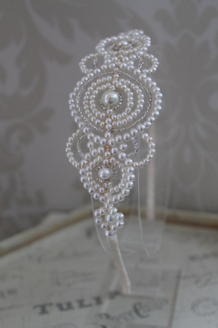Handmade diamante tiara bridal headdress Art Deco Style wedding tiara crystal wedding headpiece vintage style side tiara