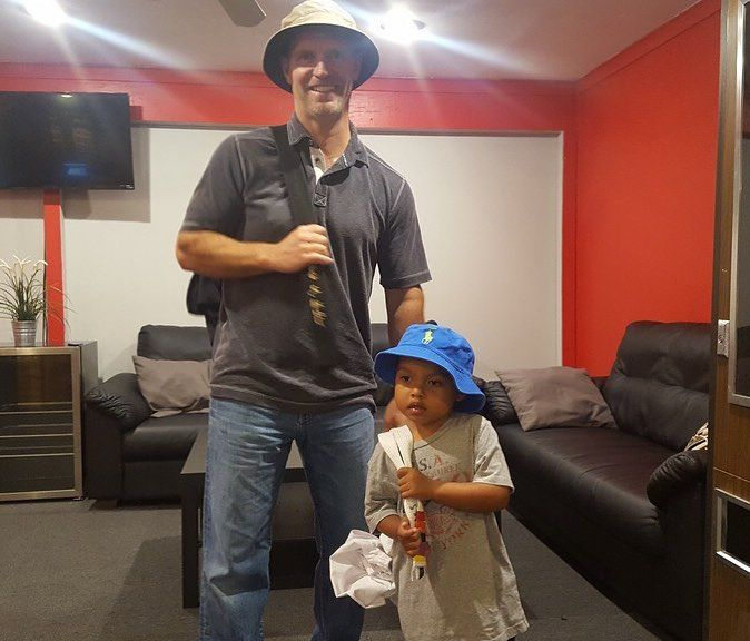 These two showed up to the gym yesterday with matching rain hats and we exploded from the cuteness. But what really did it? The matching uniforms slung over their shoulders old school style. These two we love! #likefatherlikeson #dgninjas #dragongymfamily #thefamilythattrainstogether #ninjanation #ninjatakeover #dragongymexton #martialarts #taekwondo