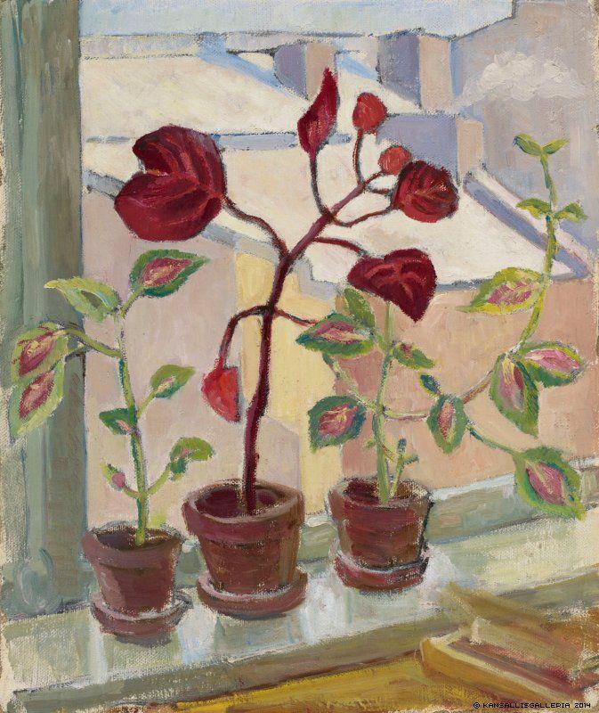 AINO VON BOEHM Punaisia Lehtiä III (Red Leaves, c.1930)