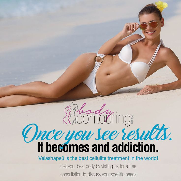 Once you see results. It becomes and addiction. #Velashape3 is the best #cellulite treatment in the world! Get your best #body by visiting us for a #free consultation to discuss your specific needs. #contouring #weightloss #toning #beauty