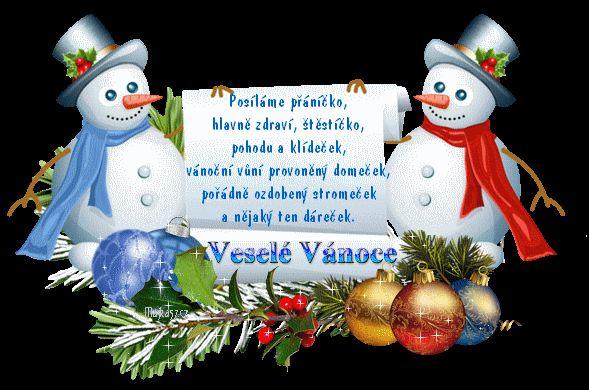 Přání - přáníčka - vánoční