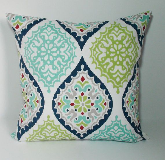 Brighten Up Your Outdoor Space With This Beautiful Outdoor Pillow Cover.  The Pillow Insert Is