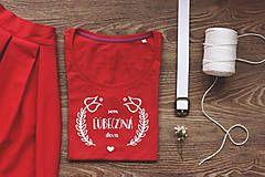 Tričká - Ľúbezná deva - červená / veľkosť L - 7963297_