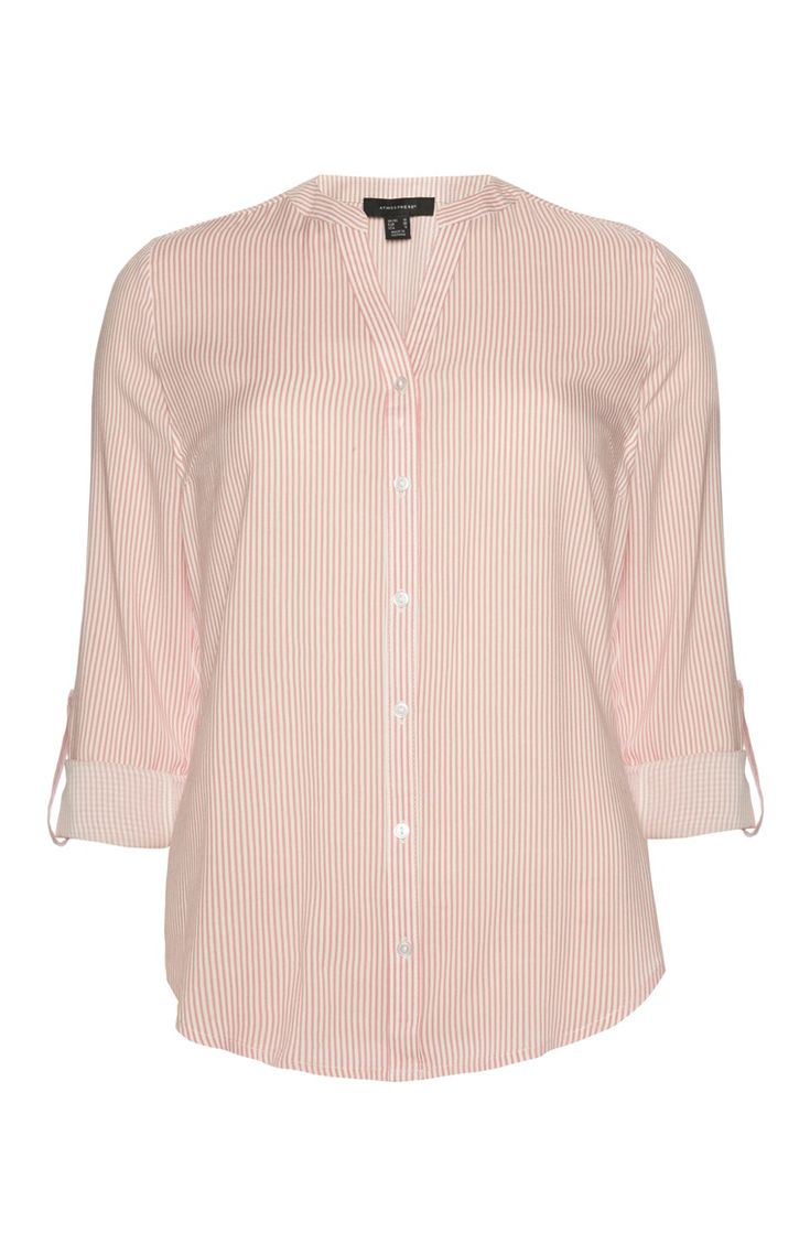 Primark - Peach Pin Stripe Blouse