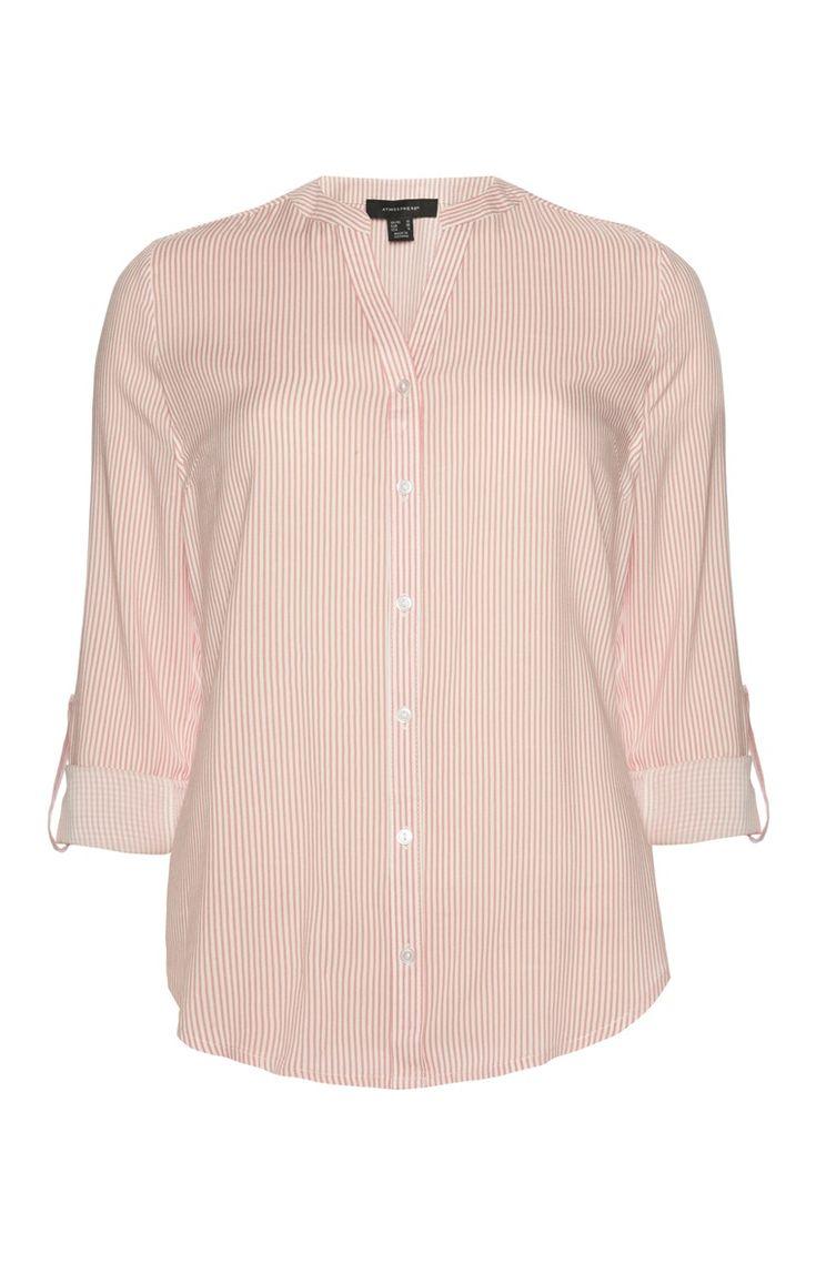 Primark - Peach Pin Stripe Blouse