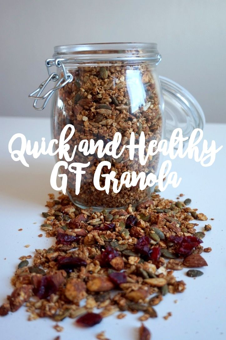 Quick and Healthy Gluten Free Granola