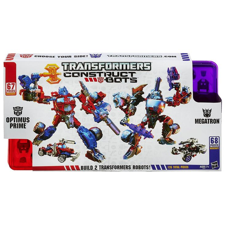 Hasbro TRANSFORMERS Construct Bots OPTIMUS PRIME & MEGATRON 135 Piece 2 Buildable Transforming Robot Action Figure Set
