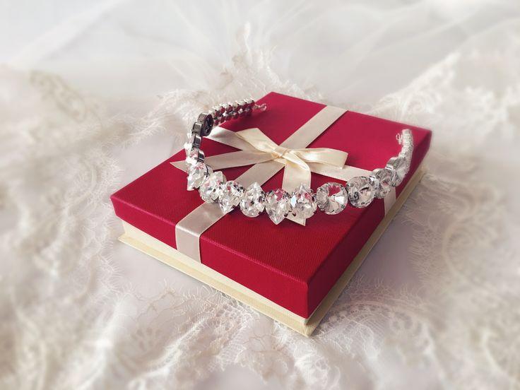 crystal crown, bridal crown tiara headband, wedding headband , swarovski crystal clear tiara, diadem, crown, headband