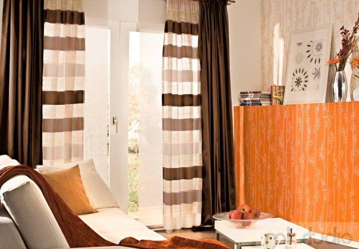 #wnętrze #salon #dekoracje #dekoracjeokien #interior #wnetrza #zasłony #firany #okno #okna #panele #cream #brąz #brązowy #brown #livingroom >> http://www.mkstudio.waw.pl/inspiracje/