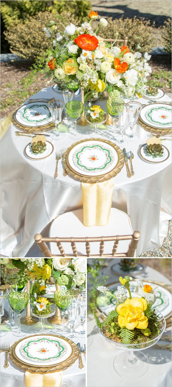 Yellow and Gold wedding ideas done beautifully at The Inn at Hastings Park. #weddingchicks Captured by: Whyman Studios  http://www.weddingchicks.com/2014/08/01/modern-lexington-wedding-venue/