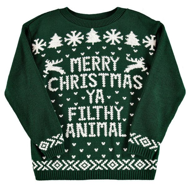 If the Christmas Jumper fits, wear it! @Polyvore #ShopPolyvore