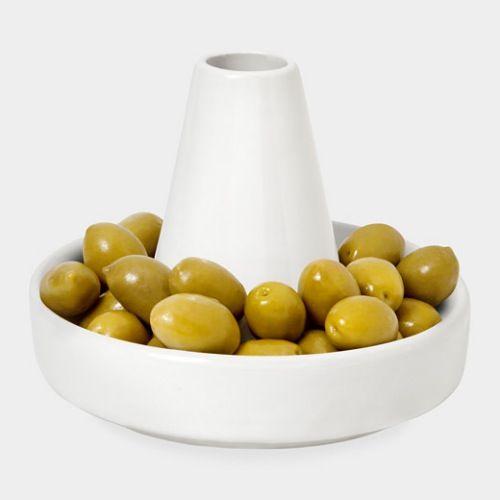 Plato para comer aceitunas