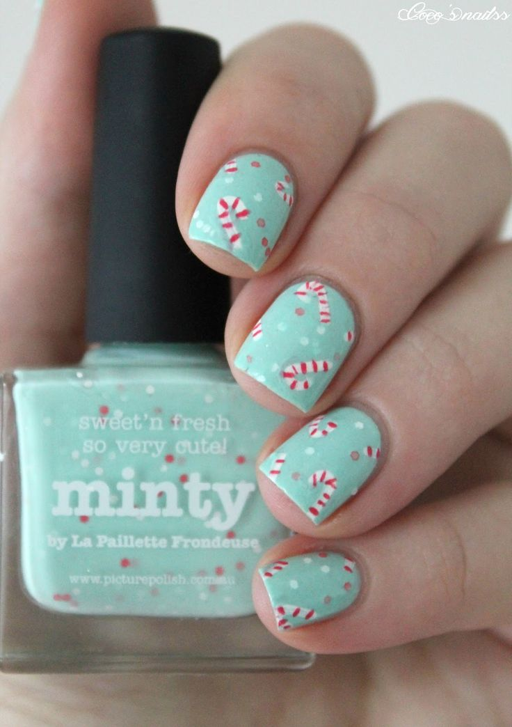 ▲ ▼ ▲ Coco's nails ▲ ▼ ▲: Christmas # 2 - Candy canes