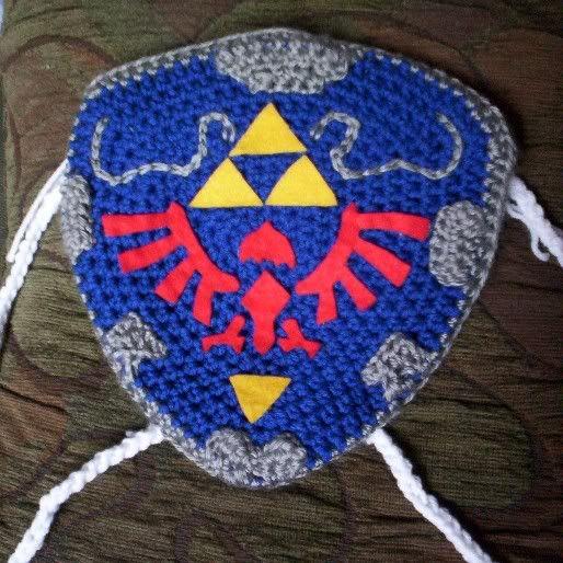 Hylian Backpack and Blobby Bags - CROCHET: Zelda Crochet Pattern, Crochet Patterns, Legendofzeldacrochet, Xmas Gift