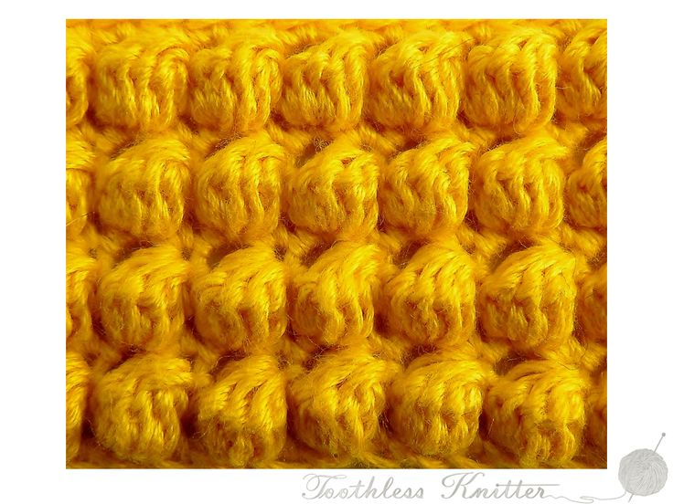 Splot Ścisły: Bąbelki / Textured Stitch: Bobble Stitch