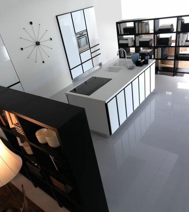 moderne einbauküche mit kochinsel bringt italienischen flair, Möbel