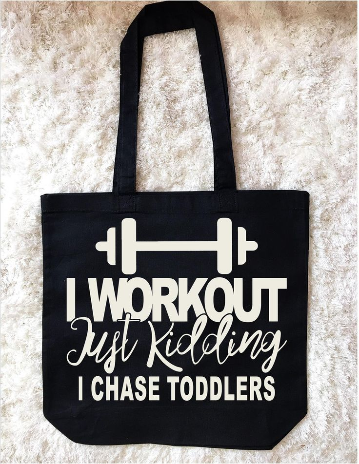 BLACK OR WHITE BAGS MADE TO ORDER! I workout custom Mom Tote Bags, Mom bags, personalized diaper bags, personalized grocery bags, funny tote bag saying, mom totes, trendy mom  by Pretty Party Favors, $16.00 USD