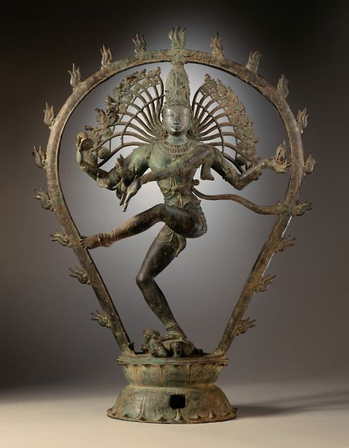 The Hindu deity Shiva, portrayed as Lord of the Dance (Nataraja). Circa 950 CE. From Tamil Nadu, India.