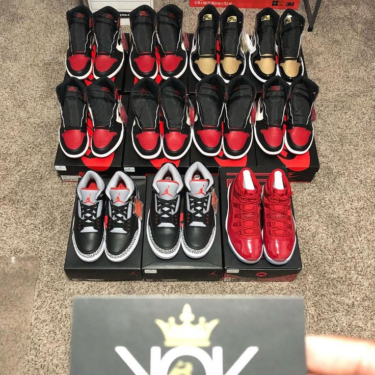 For Sale NO TRADES  All prices firm shipped! (All DS) Black Cement 3 Sz 9 & 11.5 $240 Win like 82 11 Sz 9.5 $265  Bred Toe 1s Sz 9.5-10.5 $300  Sz 11.5 $285  Sz 12 $280  Sz 13 $265  Gold Toe 1s Sz 12 & 13 $250  First come first served! Dm me for payment options.... I will load all to website if not gone by tonight.
