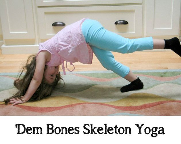 dem bones skeleton yoga a great yoga sequence for the little ones in our - Halloween Sequences
