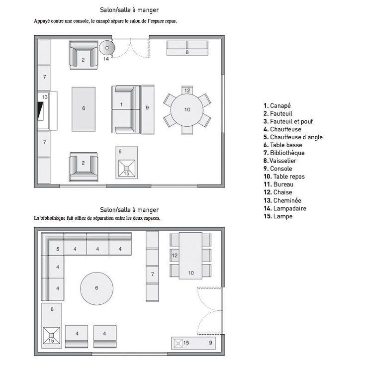 les 268 meilleures images du tableau living room sur pinterest ... - Plan Salon Cuisine Sejour Salle Manger