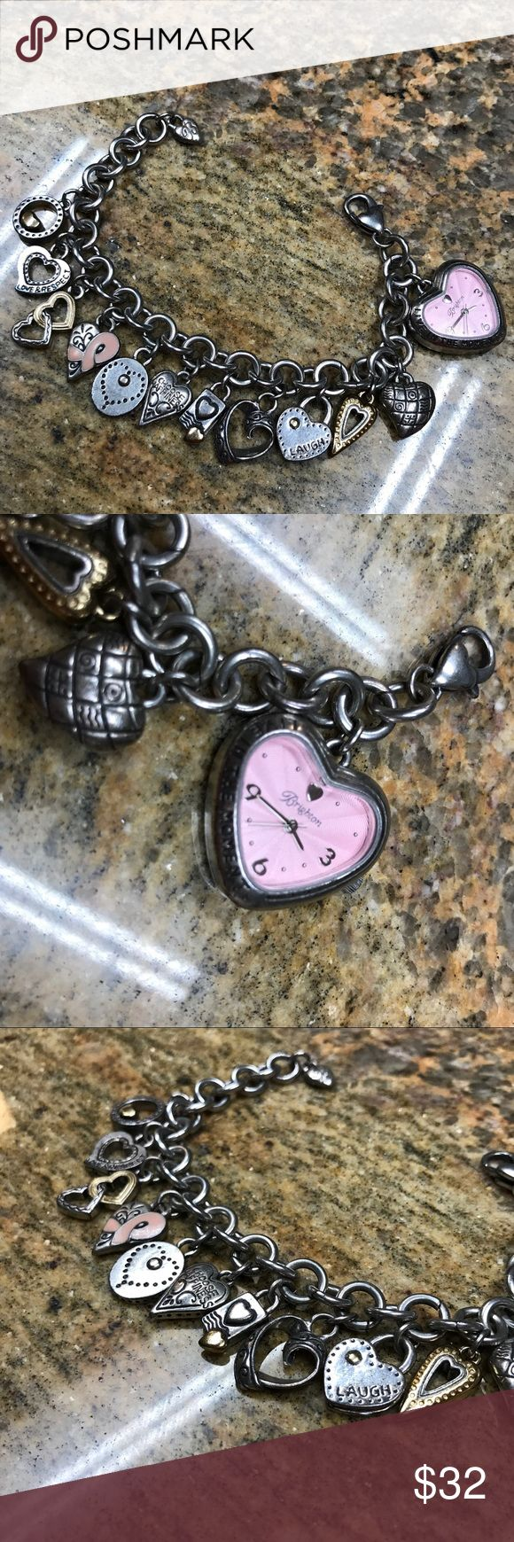 Brighton Live in the moment watch charm bracelet Watch is not working but still so cute! Brighton Jewelry Bracelets