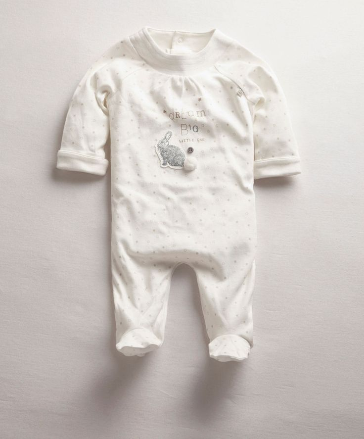 Unisex Welcome To The World Pima Bunny All-In-One - New In - Mamas & Papas