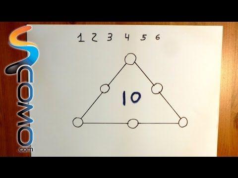 Acertijo de matemáticas con respuesta (triángulo) - YouTube