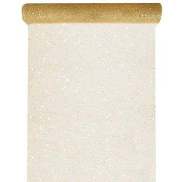 Tafelloper glitter goud 30 cm