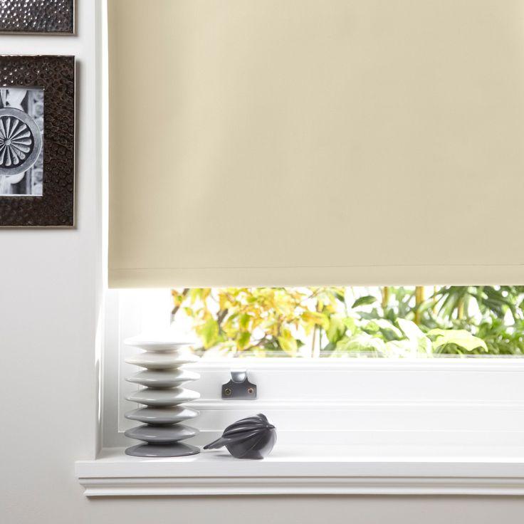 Elegant Colours Kona Corded Cream Roller Blind (L)160cm (W)120cm   Departments