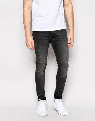 Weekday Jeans Form Super Stretch Skinny Fit Grey Moon