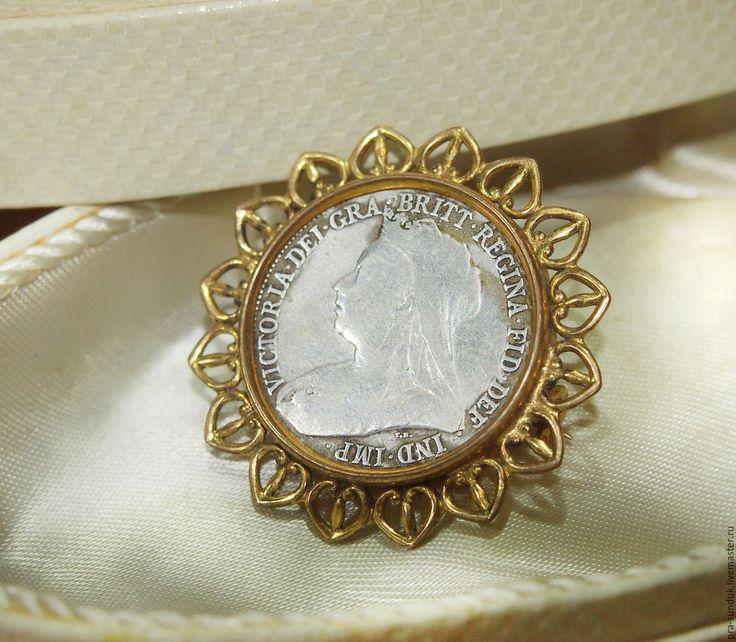 Старинная брошь «Королева Виктория» Европа Начало ХХ века.