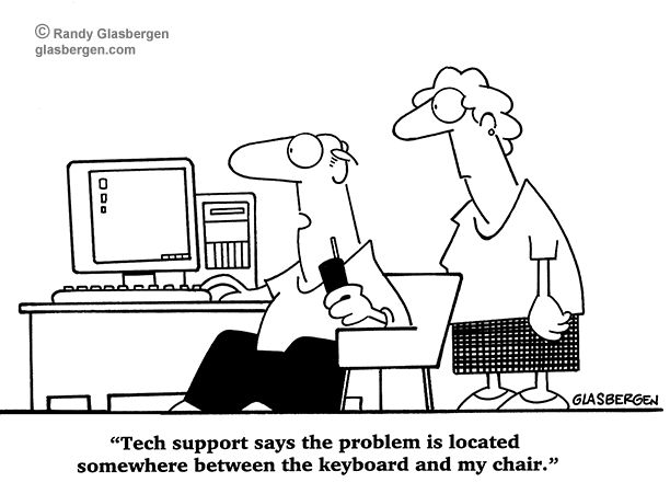Image result for cartoons of peoples having computer problems