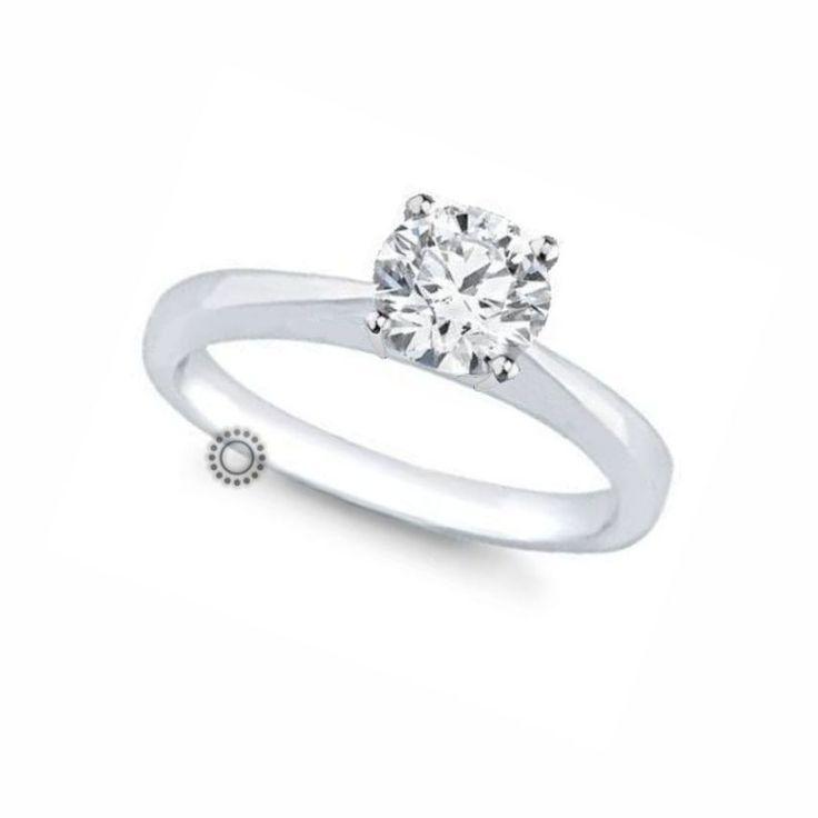 Ακριβό μονόπετρο δαχτυλίδι με διαμάντι Brilliant από λευκόχρυσο Κ18 σε διαχρονικό και λιτό δέσιμο που αναδεικνύει την πολύτιμη πέτρα | Μονόπετρα ΤΣΑΛΔΑΡΗΣ στο Χαλάνδρι #ακριβό #μονόπετρο #δαχτυλιδι #μπριγιάν