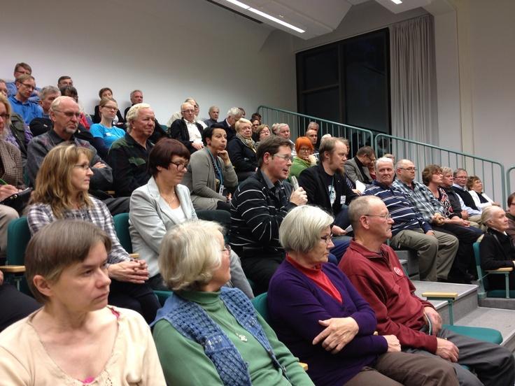 Savitaipaleen vaali-ilta Europaeuksen koulun auditoriossa 25.9.