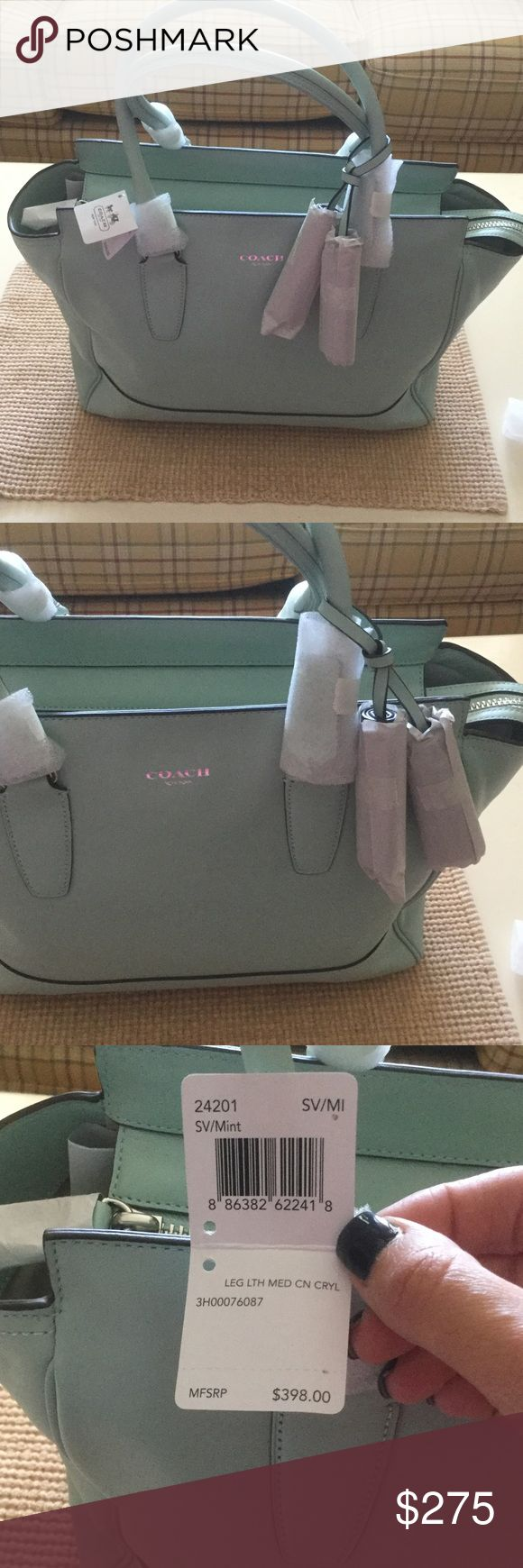 "BNWT Coach Legacy Leather Carry All Brand New with Tags Mint Coach Legacy Leather Carry All! Gorgeous and professional bag with a subdued pop of color! Dimensions are as follows: 13"" L, 11"" H, 4.5"" W and a 6.5"" handle drop.  Grab this NOW!! Coach Bags Totes"