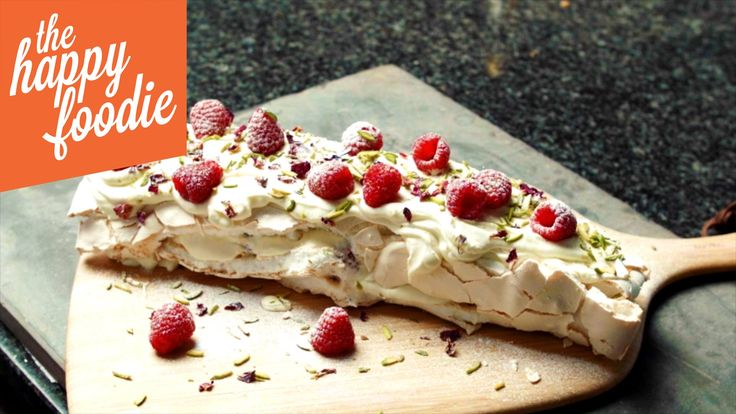 Meringue Roulade with Pistachios and Fresh Raspberries. This delicious dessert by Yotam Ottolenghi will impress even the most pickiest of dinner party guests.