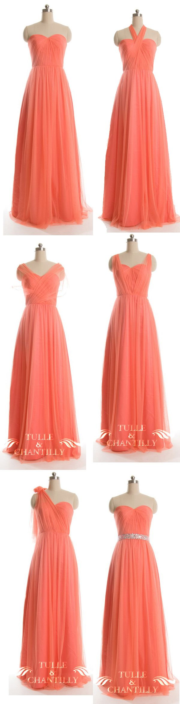Fall wedidng ideas - Long Bright Orange Multi-wear Convertible Tulle Bridesmaid Dresses - See more at: http://www.tulleandchantilly.com/long-bright-orange-multiwear-convertible-tulle-dress-p-711.html
