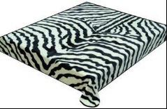 Zebra Skin Korean Mink King Blanket 1308