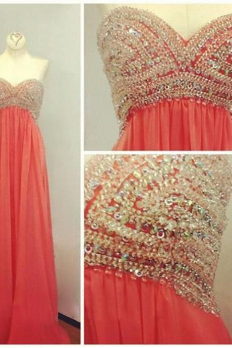 d3661c35080 Pink Chiffon Tiered Two Pieces Sequins A-line Beaded Long Evening Dresses