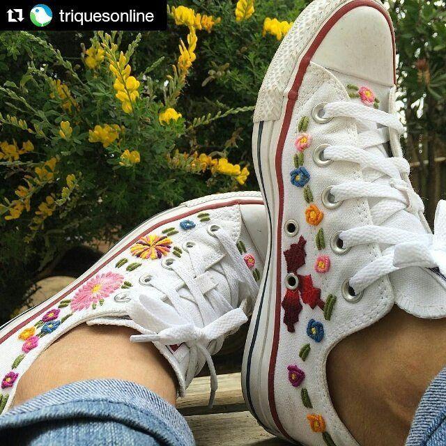 """14 Me gusta, 1 comentarios - manos_mexicanas (@manos.mexicanas) en Instagram: """"#Repost @triquesonline with @repostapp ・・・ #Domingo con mis #converse ✌️ #ConsumeLocal…"""""""
