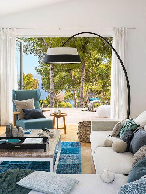 Casa verão decorada a azul