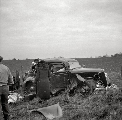 17 Best Images About Vintage Car Accidents On Pinterest