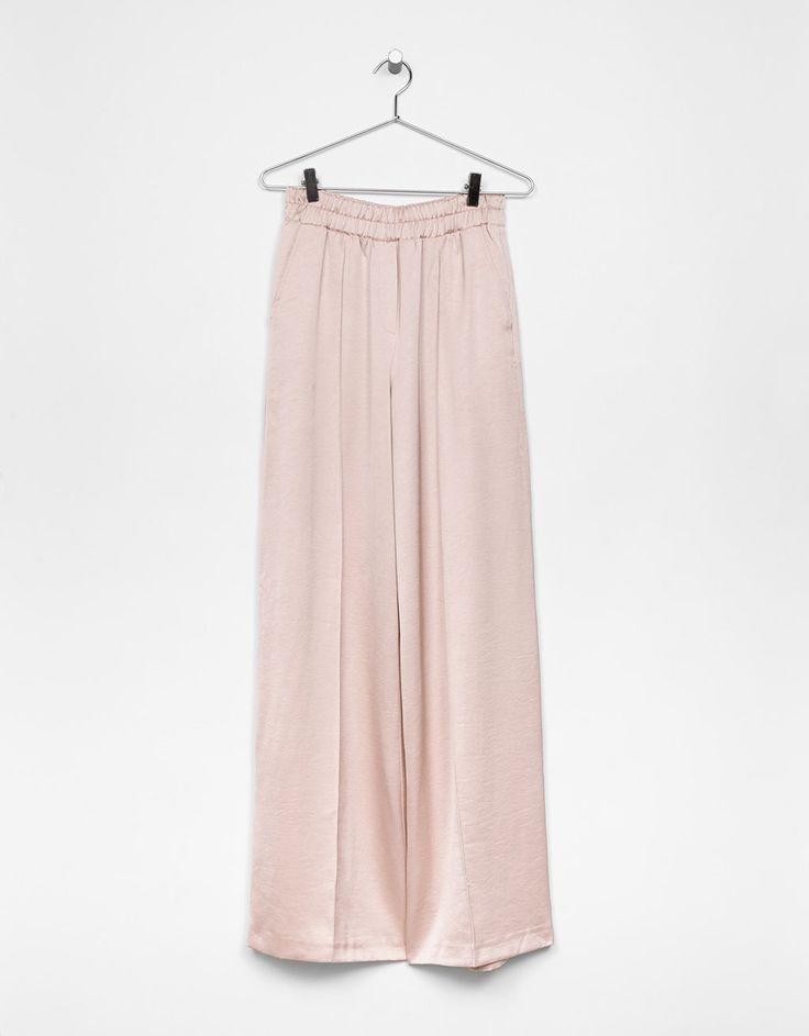 wide-leg satin pants. SS Trends 2017