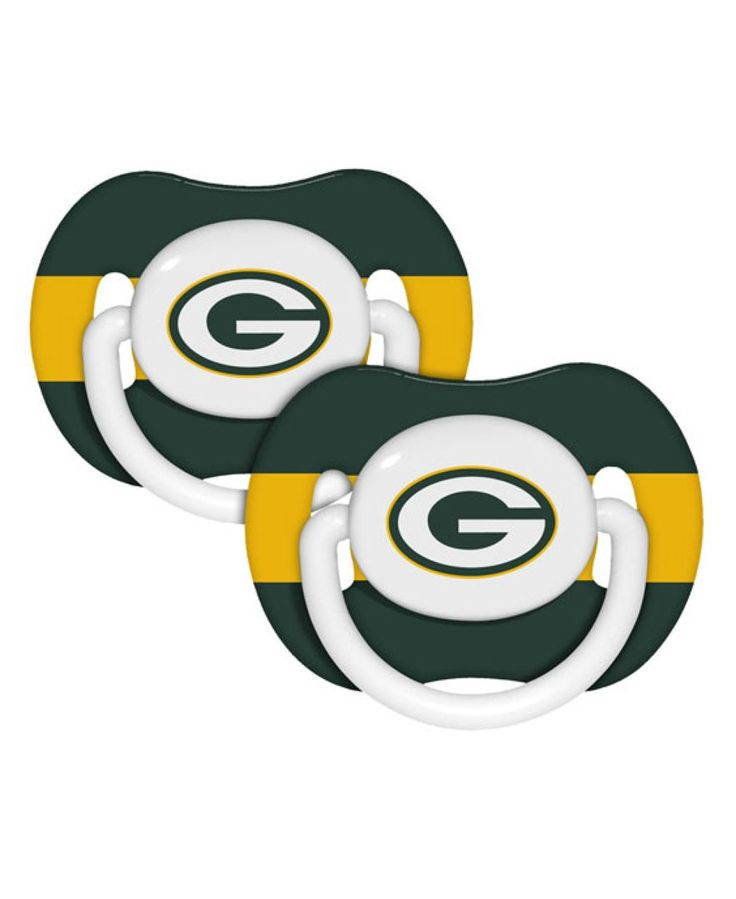 Baby Fanatics Green Bay Packers 2-Pack Pacifiers