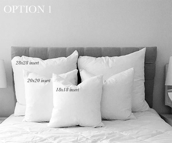 Decorative Pillow Size Guide For Full Beds Pillow Size Guide Bed Pillows Bedroom Pillows Arrangement