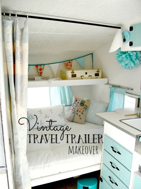 An Update on Maizy (My Little Vintage Trailer) - Interior Before and After