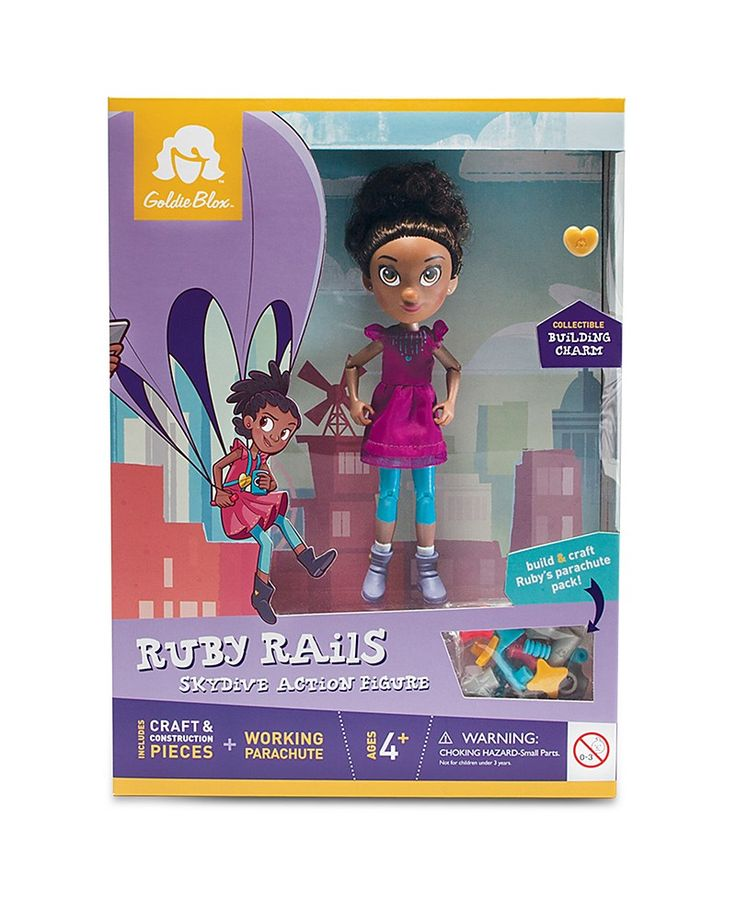 24.99$  Watch now - http://viuxl.justgood.pw/vig/item.php?t=mofuuh50178 - GoldieBlox Ruby Rails Skydive Action Figure - Ages 4+ 24.99$