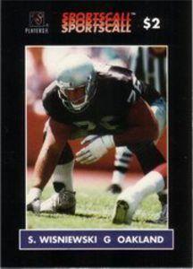 steve wisniewski football cards | ... Phonecard ‹ Steve Wisniewski (G Oakland Raiders Football) Card #400