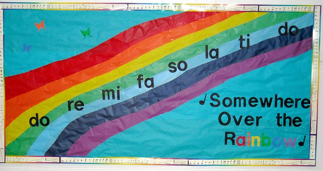 Rainbow Bulletin Board by bcritters, via Flickr